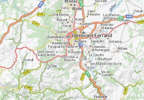 Mapas-Planos Romagnat