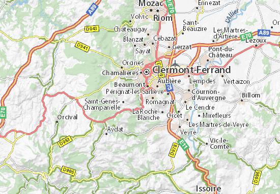 Ceyrat Map
