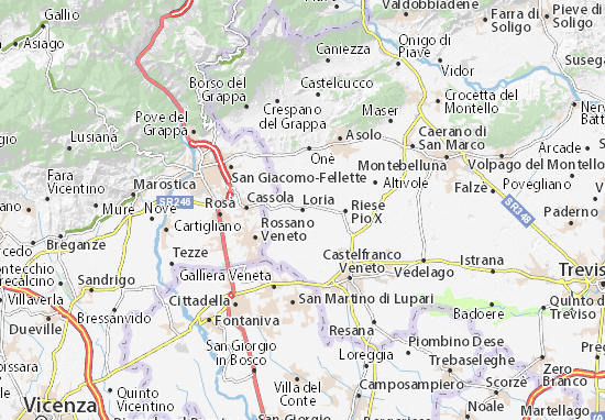Karte Stadtplan Loria