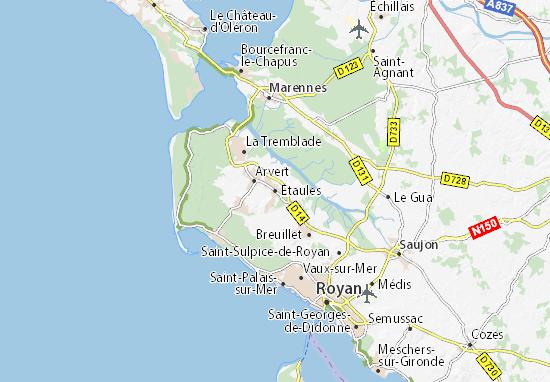 Étaules Map