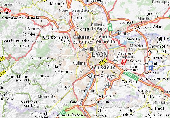 Karte Stadtplan Sainte-Foy-lès-Lyon