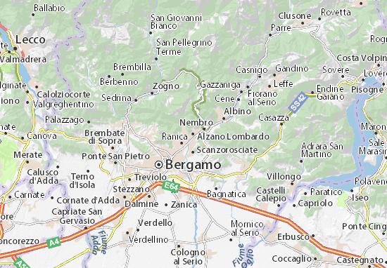 Alzano Lombardo Map