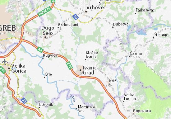 Mapas-Planos Kloštar Ivanić