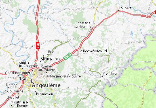 Carte-Plan La Rochefoucauld