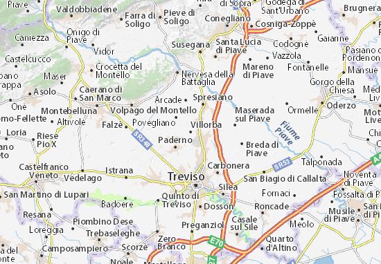 Karte Stadtplan Villorba