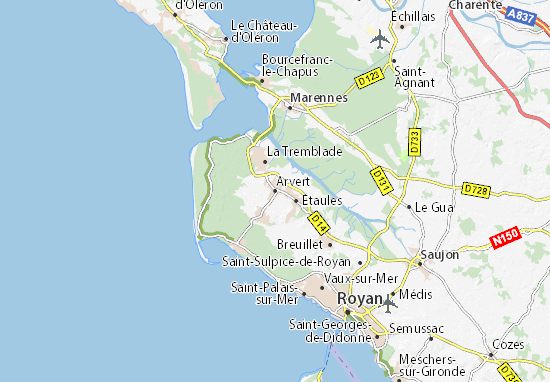 Kaart Plattegrond Arvert