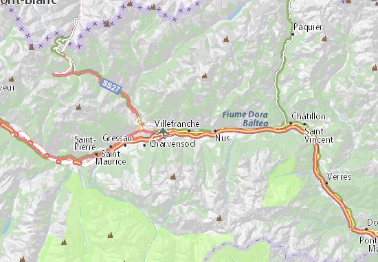 Karte Stadtplan Villefranche