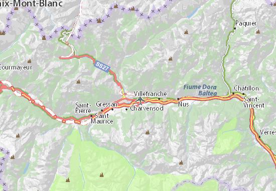 Karte Stadtplan Saint-Christophe