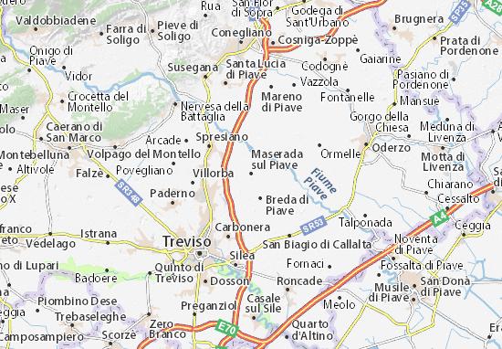 Carte-Plan Maserada sul Piave