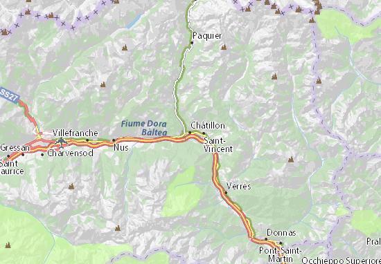 Châtillon Map