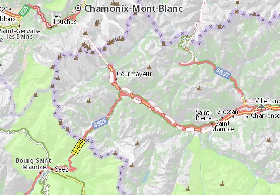 Kaart Plattegrond Morgex