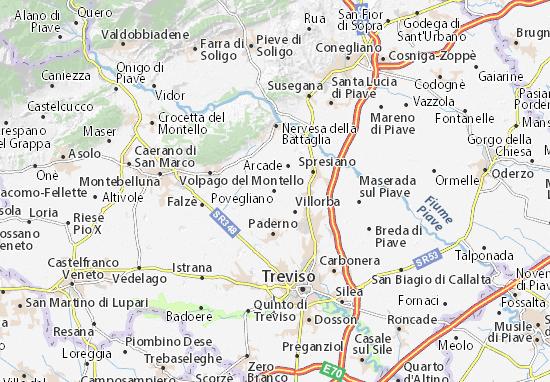 Kaart Plattegrond Povegliano