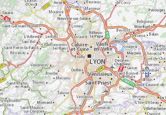 Carte d taill e tunnel de fourvi re plan tunnel de - Restaurant tout le monde a table lyon ...
