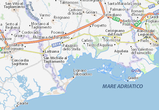 Cartina Marano Di Napoli.Mappa Michelin Marano Lagunare Pinatina Di Marano Lagunare Viamichelin