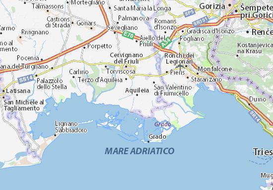 Karte Stadtplan Aquileia