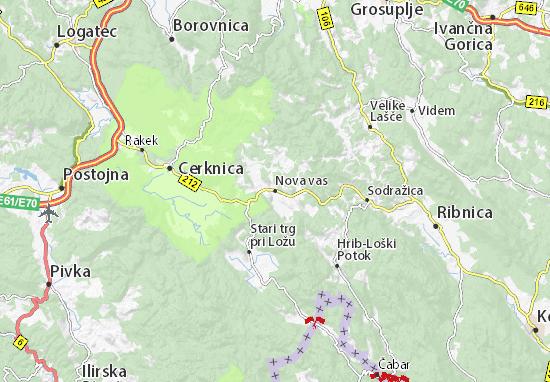 Nova vas Map