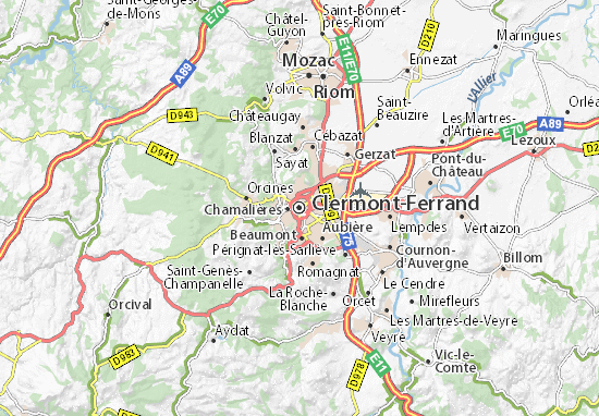 map of clermont ferrand michelin clermont ferrand map viamichelin. Black Bedroom Furniture Sets. Home Design Ideas