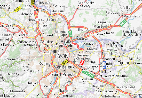 Carte-Plan Vaulx-en-Velin