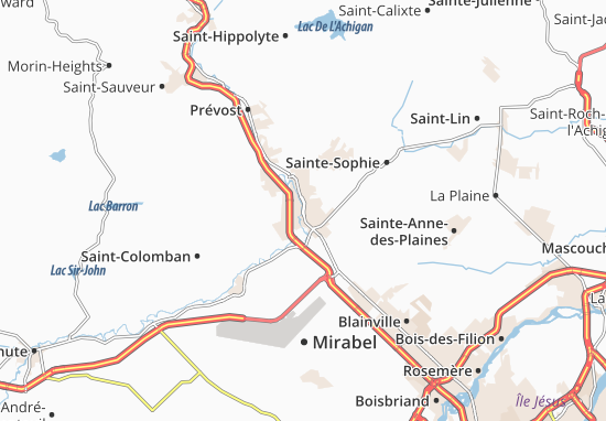 Saint-Jérôme Map