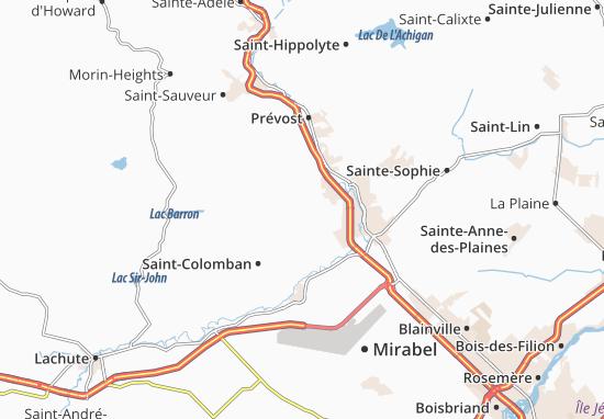 Bellefeuille Map