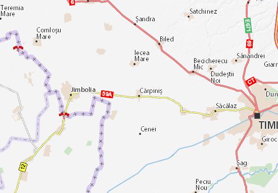 Kaart Plattegrond Cărpiniş