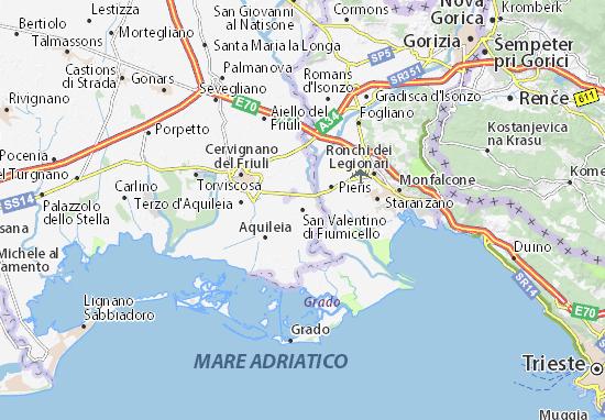 Mapas-Planos San Valentino di Fiumicello