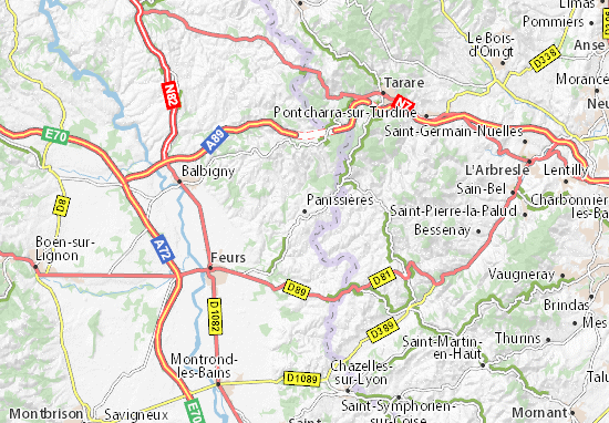 Panissières Map