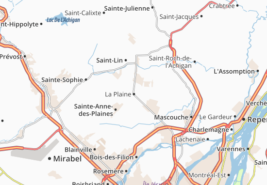 La Plaine Map