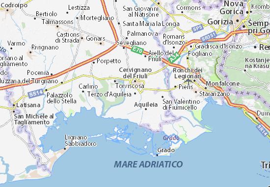 Karte Stadtplan Terzo d'Aquileia