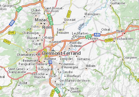 Pont-du-Château Map