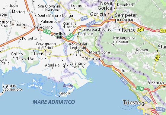 Karte Stadtplan Staranzano
