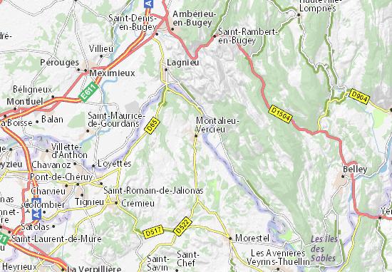 Mappe-Piantine Montalieu-Vercieu