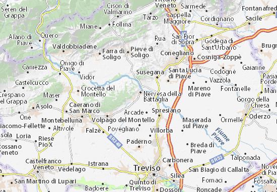 Cartina Veneto Michelin.Michelin Sovilla Map Viamichelin