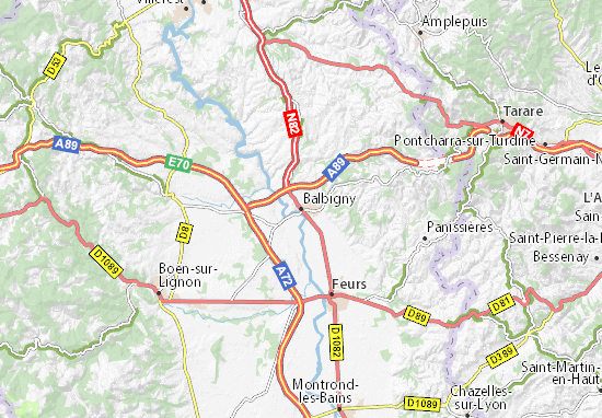 Mapas-Planos Balbigny