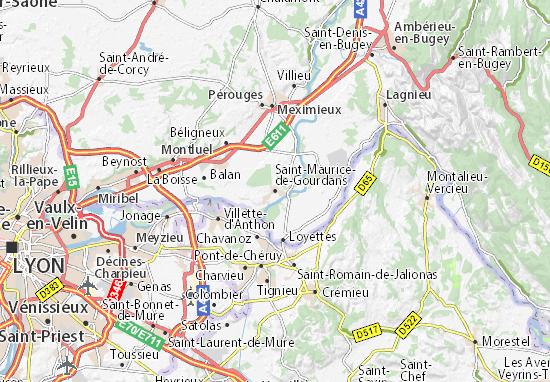 Mappe-Piantine Saint-Maurice-de-Gourdans