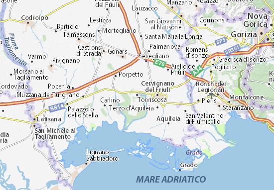 Karte Stadtplan Torviscosa