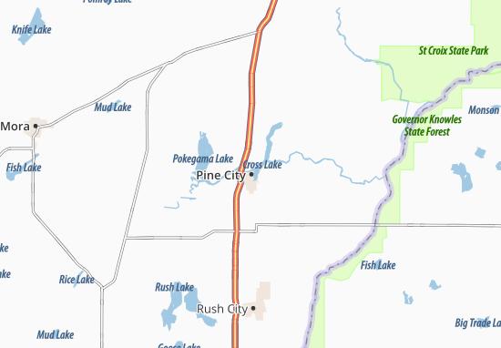 Carte-Plan Pine City