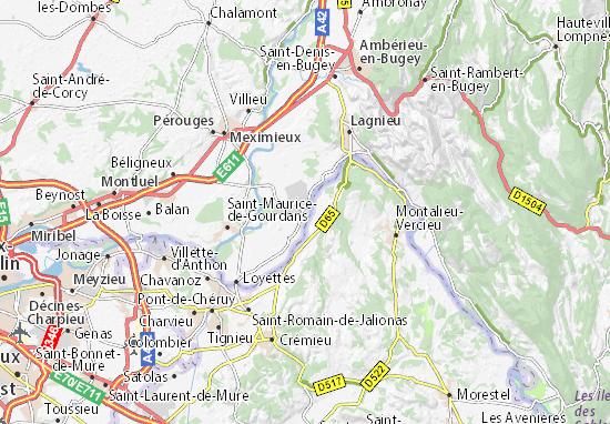 Saint-Vulbas Map