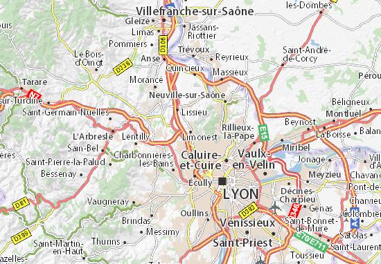 Karte Stadtplan Limonest