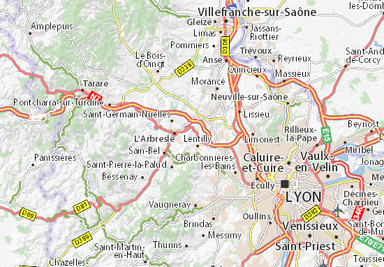 Mappe-Piantine Fleurieux-sur-l'Arbresle