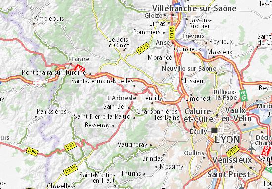 Kaart Plattegrond L'Arbresle