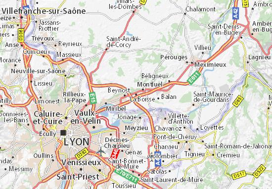 La Boisse Map