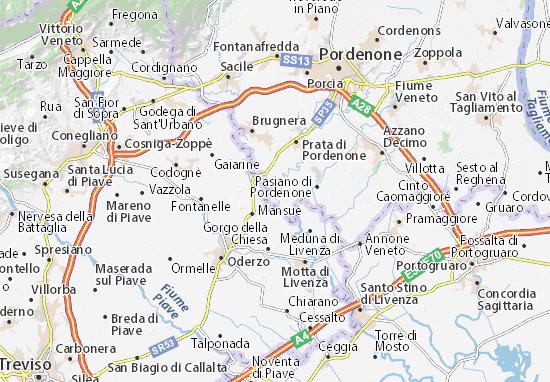 Cartina Veneto Michelin.Michelin Ghirano Map Viamichelin