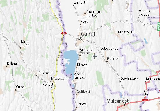 Crihana Veche Map