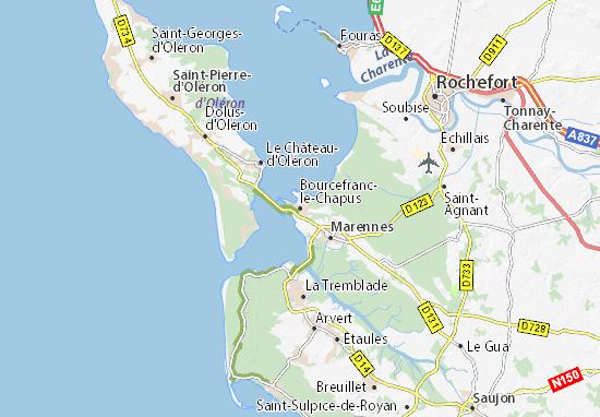 Carte-Plan Bourcefranc-le-Chapus
