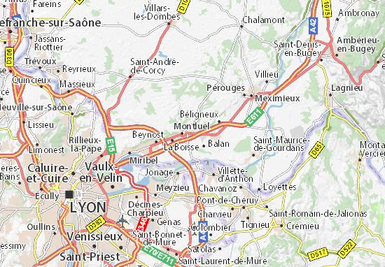 Karte Stadtplan Dagneux