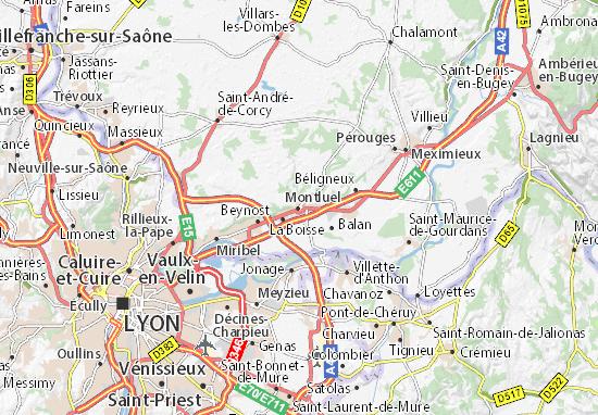 Karte Stadtplan Montluel