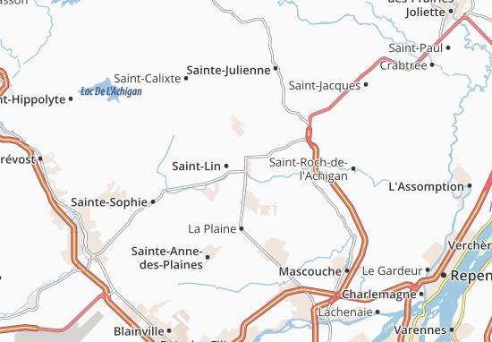 Laurentides Map