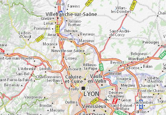 Mappe-Piantine Albigny-sur-Saône