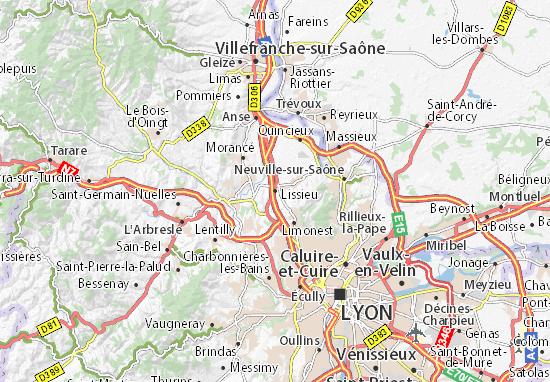 Karte Stadtplan Lissieu